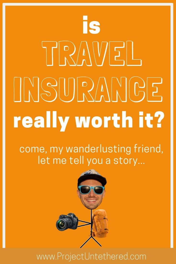 graphic with text - is travel insurance really worth it?