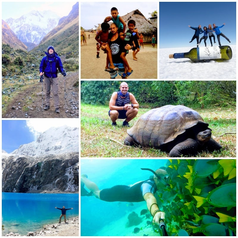 Travel photo collage showing you don't need to break the bank to have amazing experiences