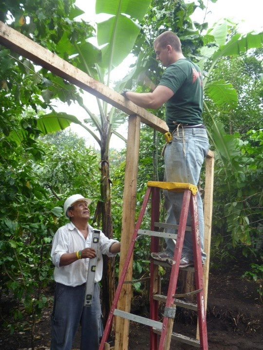 Volunteering in Guatemala building houses