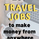 laptop picture with text overlay 107 travel jobs to make money from anywhere