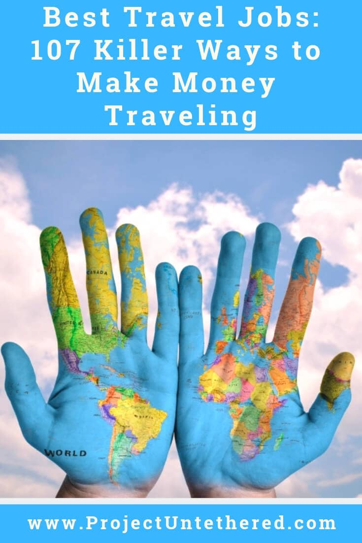 The most GINORMOUS list of travel jobs known to mankind. Check it out to learn new ways to make money traveling you've never thought of before! 🌎