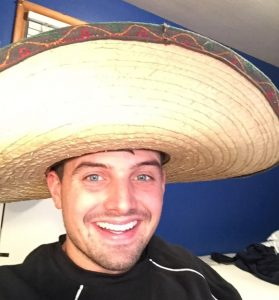 Man wearing sombrero