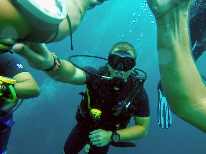 Scuba instructor—one of the best travel jobs