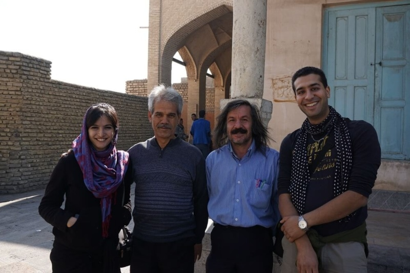 Group of tourists in Iran