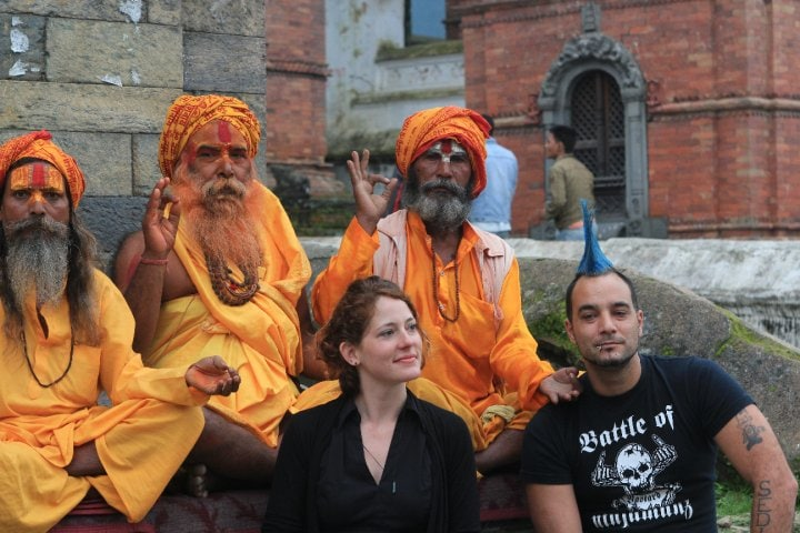 The Professional Hobo, Nora Dunn, filming a movie in Nepal