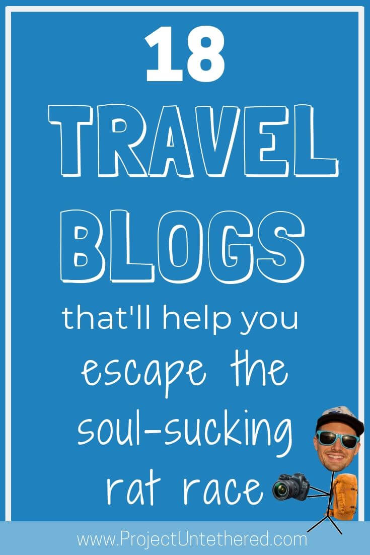 Best travel blogs to help you escape the rat race (Graphic with text)
