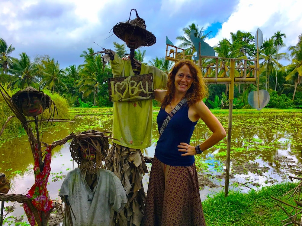 The Professional Hobo, Nora Dunn, traveling in Bali