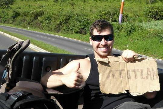The Broke Backpacker hitchhiking in Guatemala