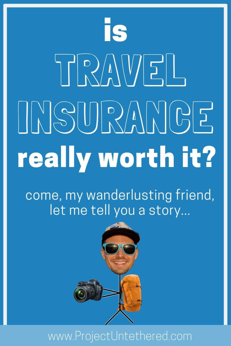 is travel insurance worth it? (graphic with text)
