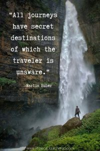 Martin Buber quote about traveling and adventure