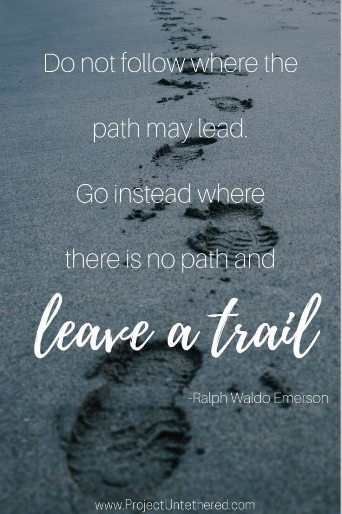 Ralph Waldo Emerson adventure quote for instagram