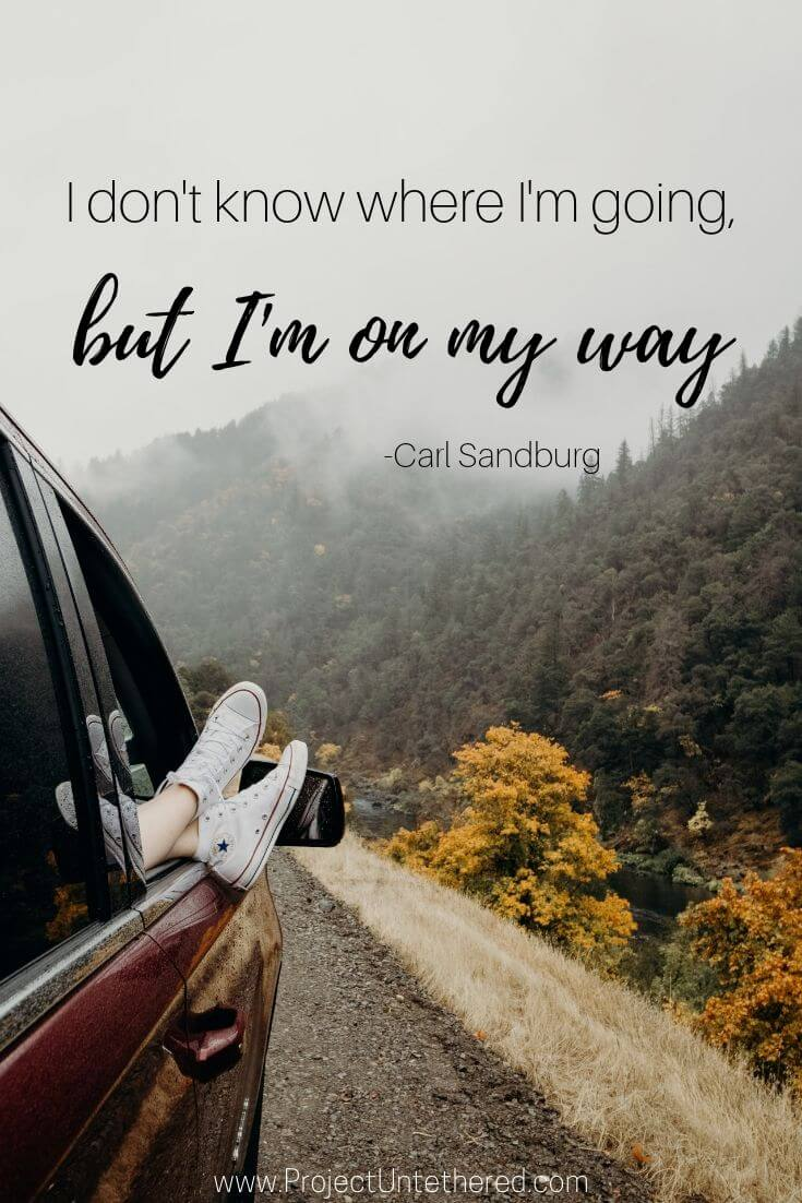 Travel captions for instagram by Carl Sandburg