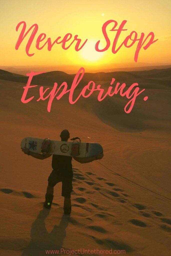 Explore the world quote