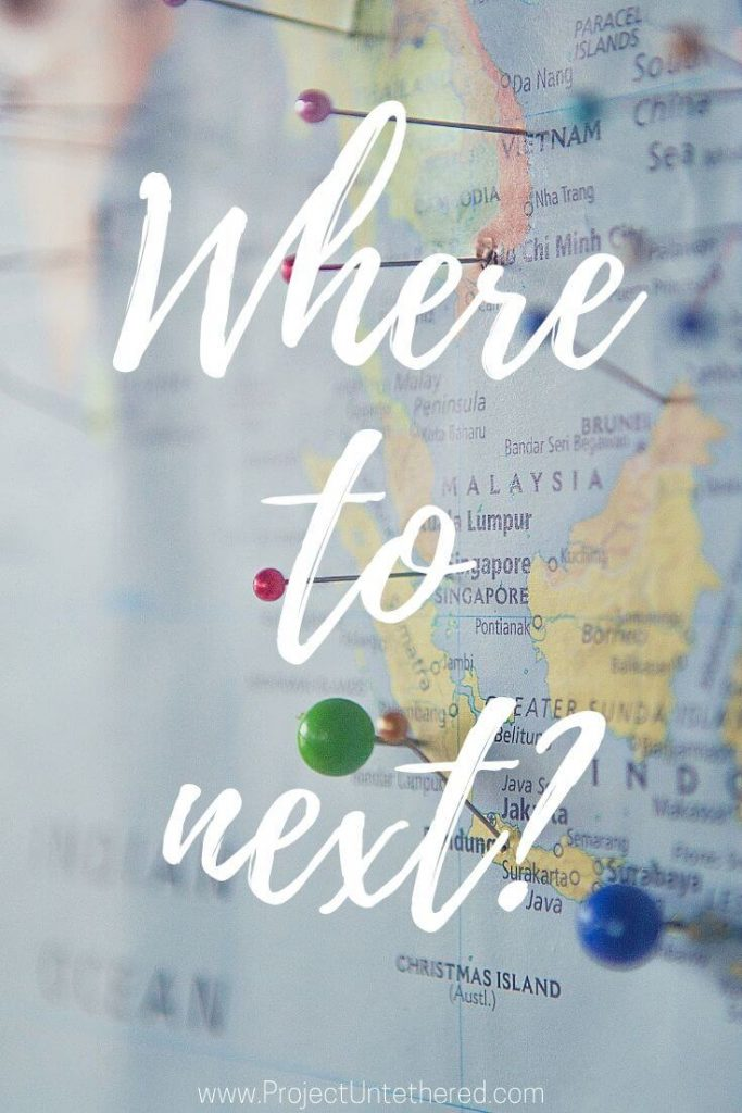 "Short adventure quote - ""Where to next?"""