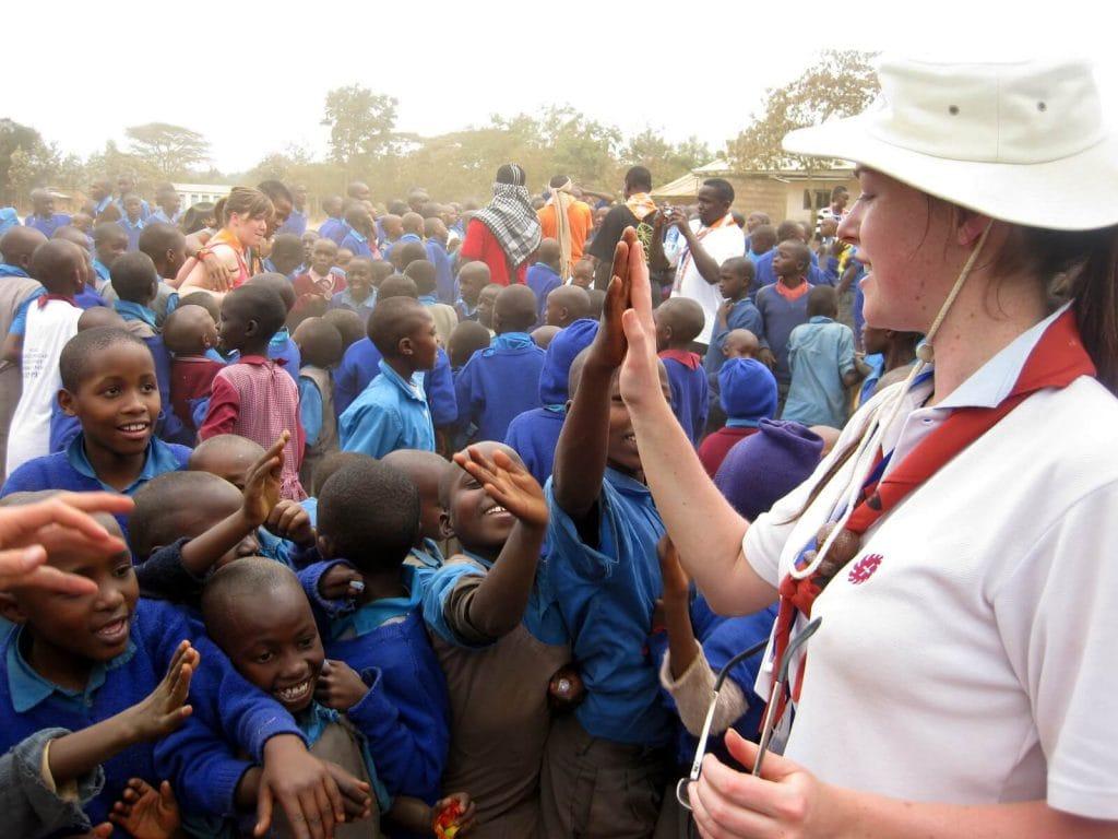 Mapping Megan volunteering in Africa