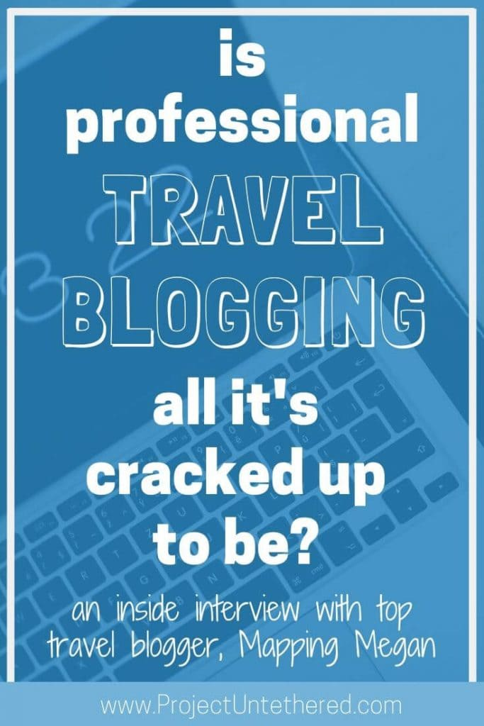 graphic with text - is professional travel blogging all it's cracked up to be?