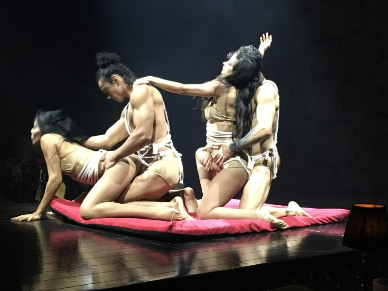 Performers at the Rauxa show