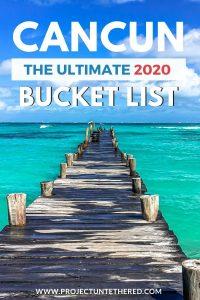 Cancun bucket list - dock on beautiful Mexican beach