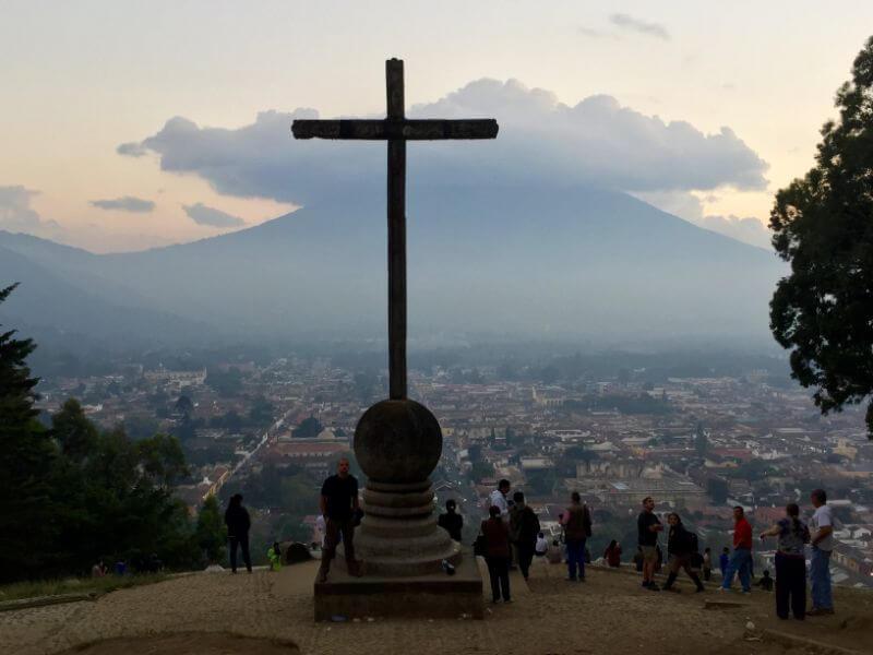 Cerro de la Cruz viewpoint in Antigua, Guatemala