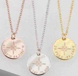 women's compass necklace