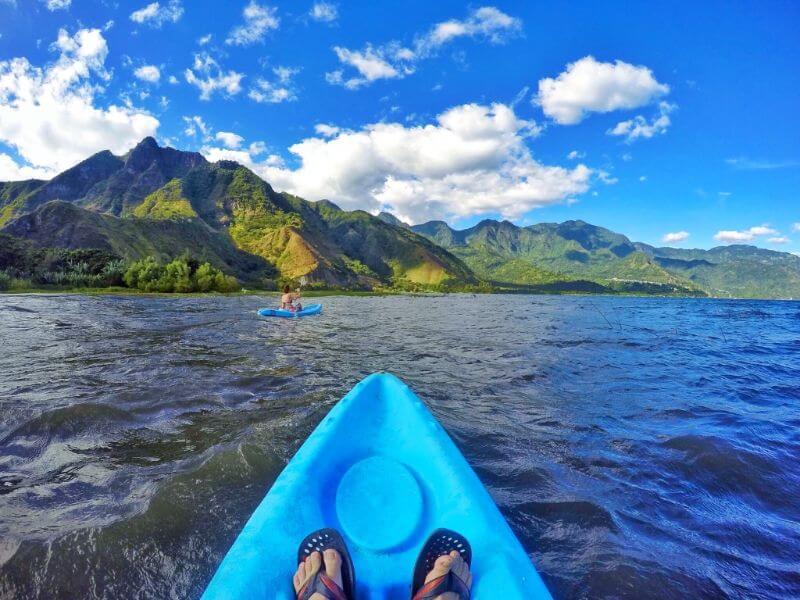 Kayaking on Lake Atitlan, Guatemala