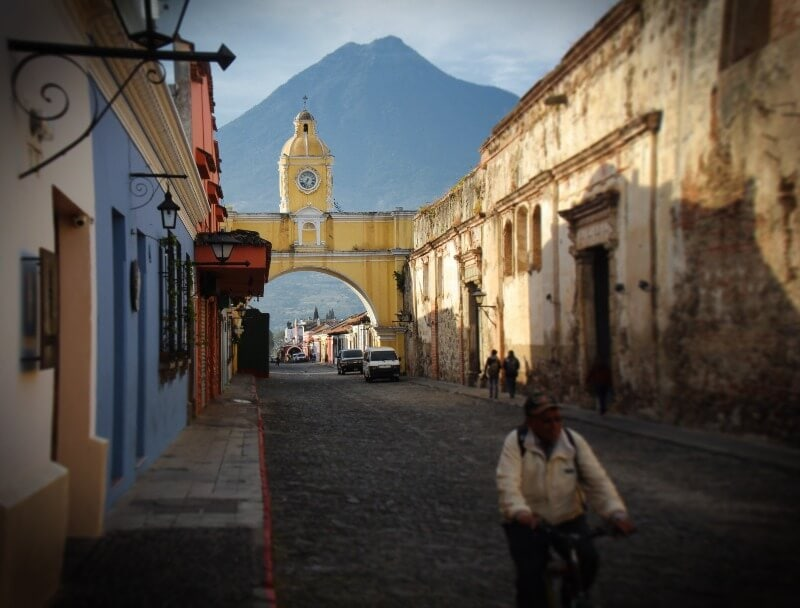 Santa Catalina Arch with Volcan de Agua in the background