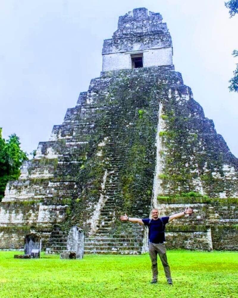 Temple of the Grand Jaguar in Tikal Mayan Ruins, Guatemala