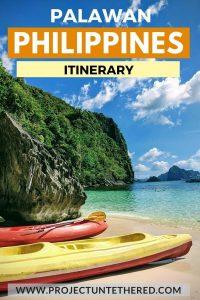 palawan philippines travel itinerary - kayaks on coron island tour