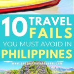 philippines beach pictures with text overlay 10 travel fails you must avoid in philippines