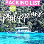 philippines beach with text the ultimate packing list for philippines