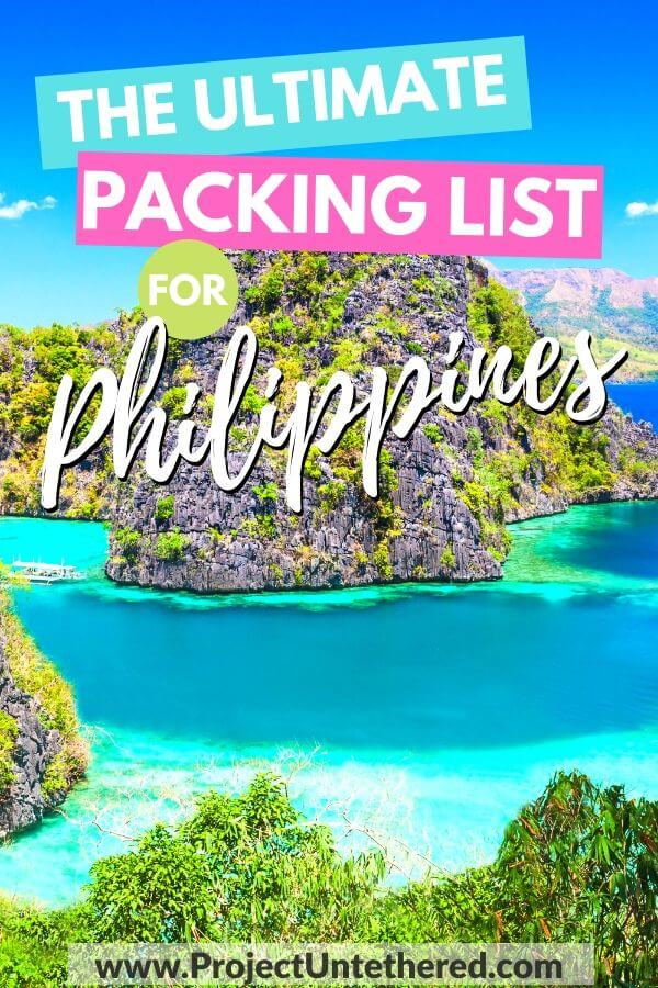 Packing list for Philippines - limestone cliffs near Coron islsand