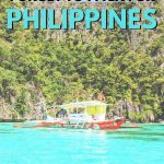 Philippines packing list - blue waters on Coron island hopping tour