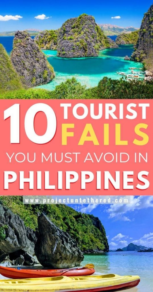 Philippines travel tips and mistakes to avoid pinterest image