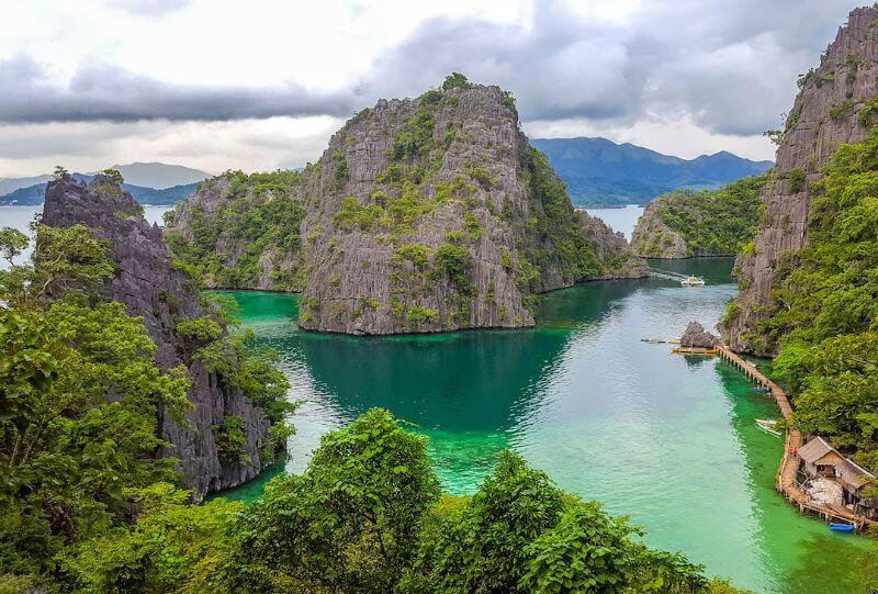 Limestone cliffs in Coron, Philippines