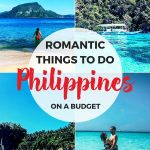 romantic things to do in the Philippines on a budget Pinterest image - various Philippines photos in background