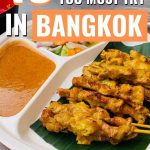 Street food with text 19 street foods you must try in bangkok