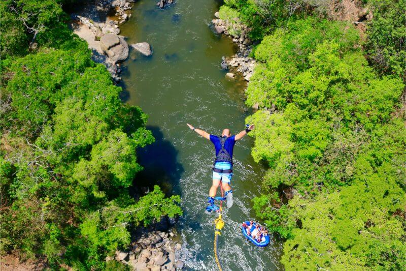 Bungee jumping in San Gil, Colombia