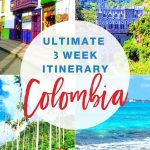 Photos of Colombia with text ultimate 3 week itinerary Colombia