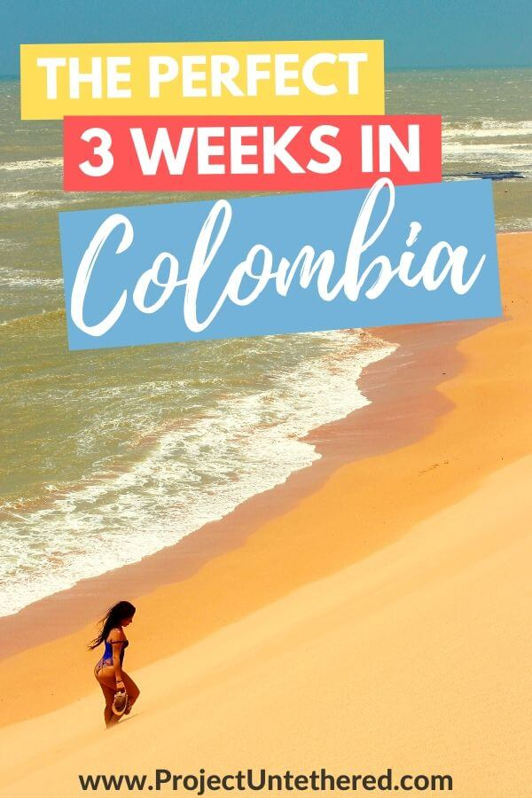 The perfect 3 weeks in Colombia itinerary - Caribbean beach background
