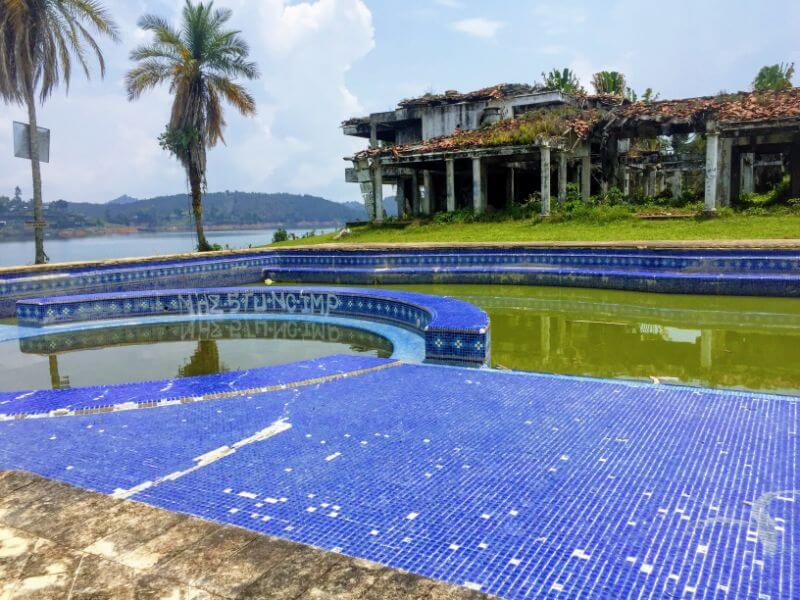 Pablo Escobar's bombed mansion near Guatape