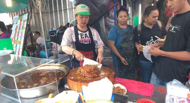 stewed pork leg food stall bangkok