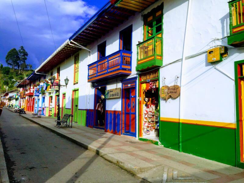 Colorful buildings in Salento, Colombia