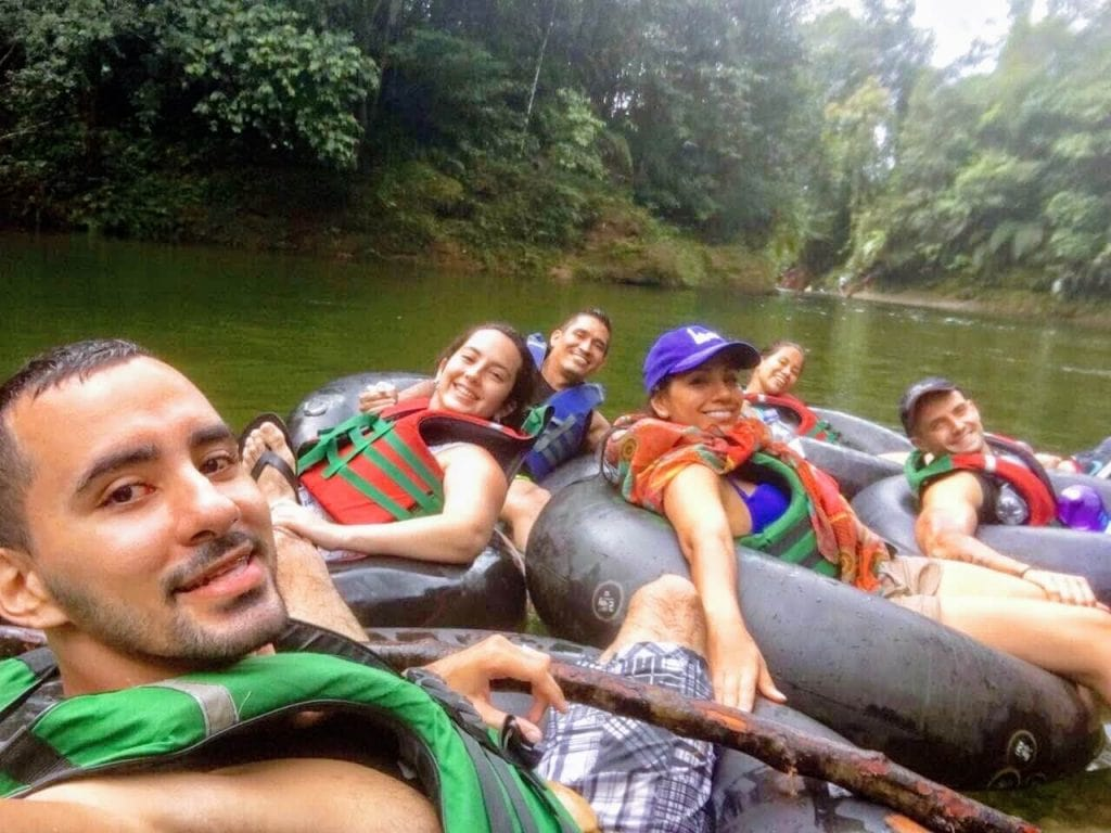 Tubing in San Cipriano, Colombia