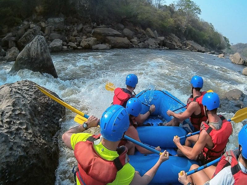 White water rafting in San Gil, Colombia