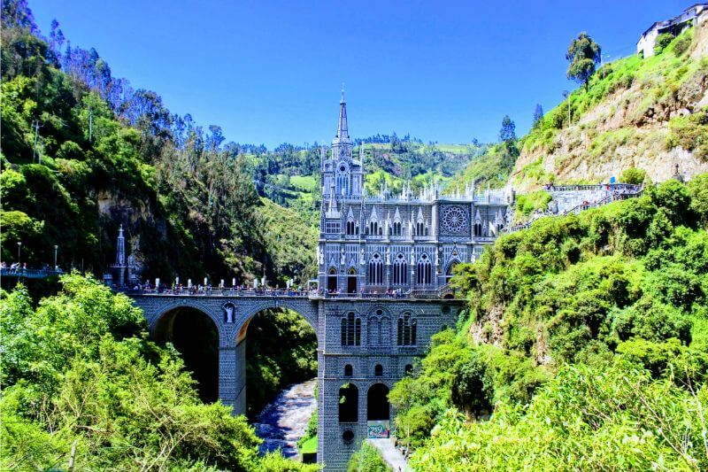 Las Lajas Sanctuary in Ipiales Colombia