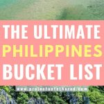 philippines beach pictures with text overlay the ultimate philippines bucket list