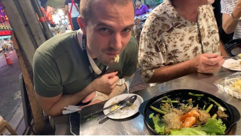 eating disgusting durian fruit