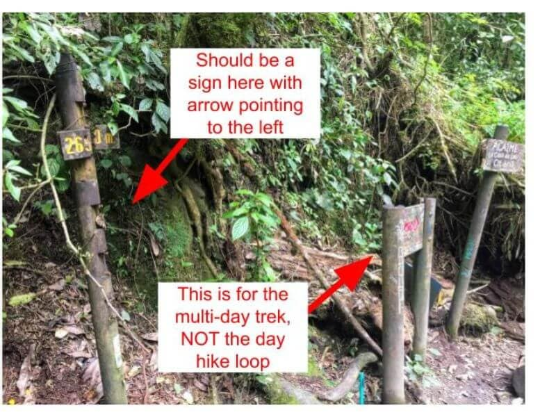 Missings signs on Cocora Valley Trek