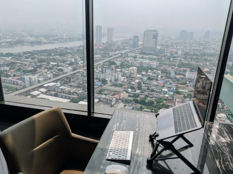 awesome city view we had from our office when living in Bangkok