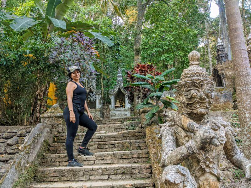 Hiking through the jungle to Wat Pha Lat in Thailand - a great activity if for anyone with 3 days in Chiang Mai